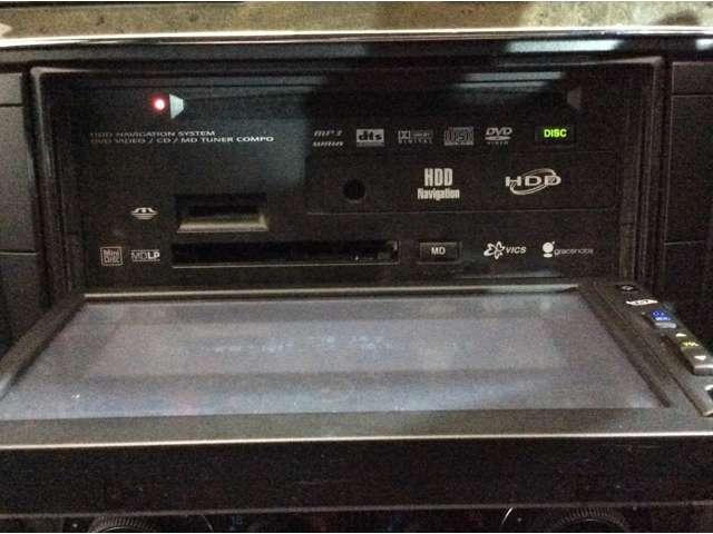 ★純正HDDナビを装備しております。CDやDVD、MDの再生が可能です♪