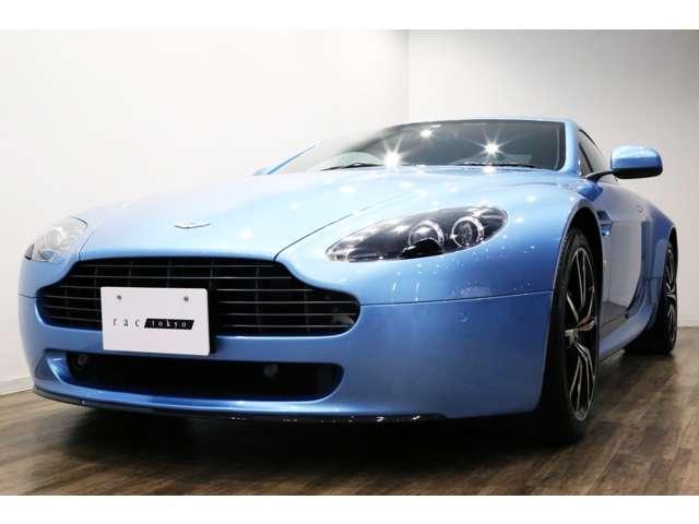 正規ディーラー車 2011年モデル Aston Martin V8ヴァンテージ N420 右ハンドル グラシアルブルー/ブラックレザー