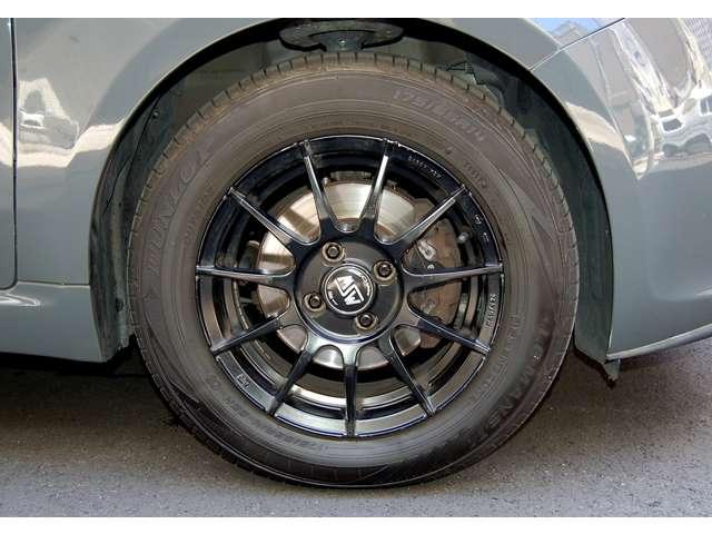 OZレーシング14インチアルミホイール (ブラック)175/65R14 ダンロップLEMANS V(2019製造4本)■純正スチールホイール・ホイールキャップ4本有り