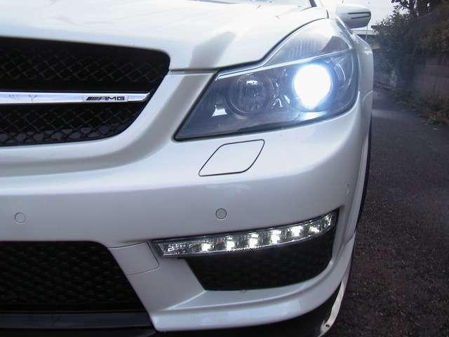 ヘッドライトバーナー12000k&S65用デイライト加工取り付け!!FOG仕様にも戻せます!!AMGグリルエンブレム!!