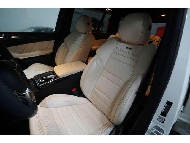 ホワイトナッパレザー AMGスポーツシート シートヒーター&ベンチレーション メモリー付パワーシート