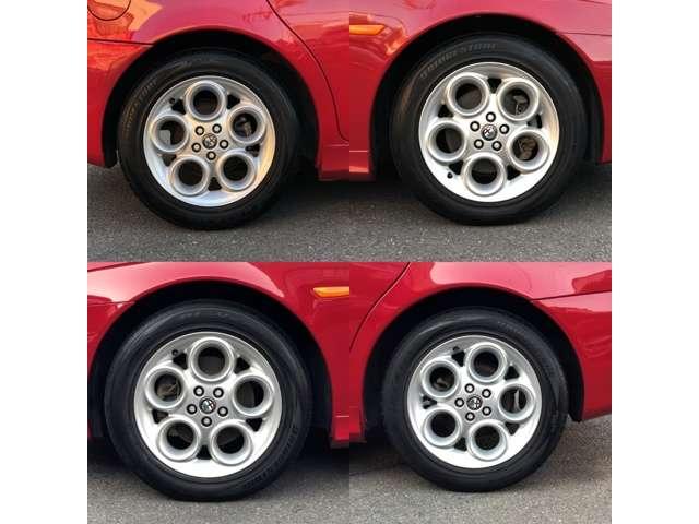 純正16インチアルミホイール ガリキズも無く綺麗です。タイヤは4本共新品交換後納車いたします。