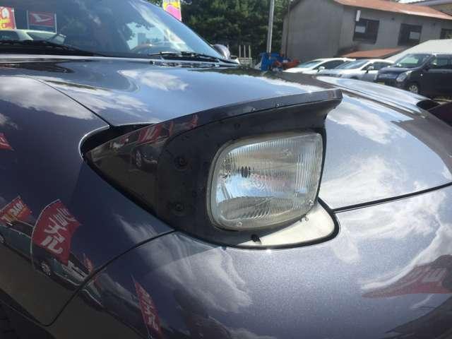 固定式ライト等に変えると更にカッコよく仕上がると思います。今やもうありませんが、R-majicさんのスリークライトに変えたりするとこの車の魅力が更にUPすると思います。