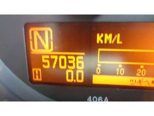 現在走行距離 57.036 KMです!