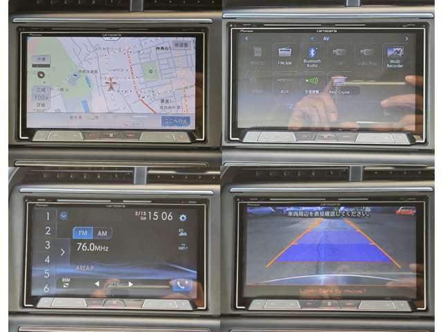 HDDナビ&Bカメラ搭載で安心。ご覧の通り視認性も高いため車高が低くとも周囲の障害物を網羅します☆