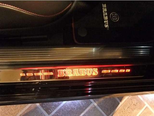 BRABUS LEDエントランスパネル フロント(白色から赤色に変化します)