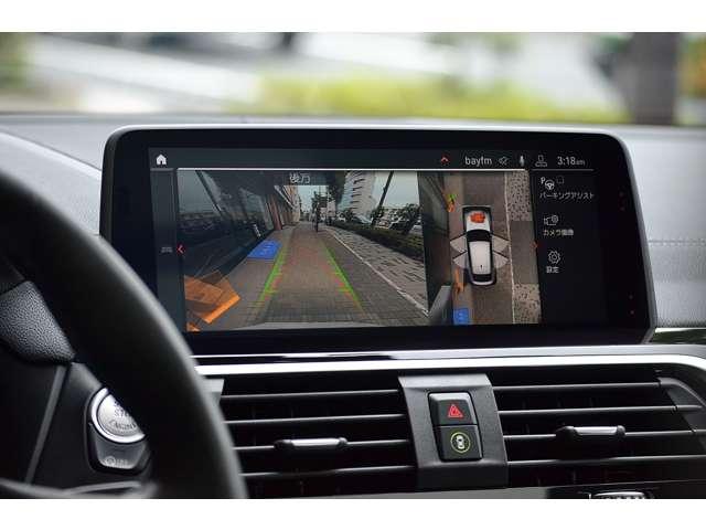 純正ナビゲーションが装備されています。バックカメラにトップビューカメラ、パークセンサーの映像も表示されます。