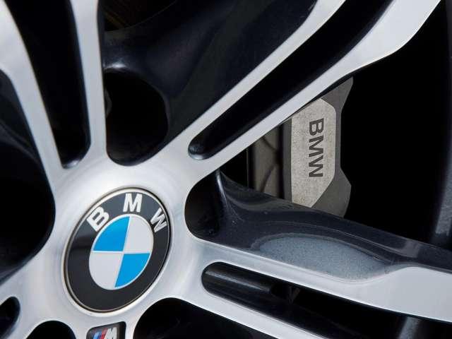 BMWのロゴ入りブラックキャリパーが装着されています。