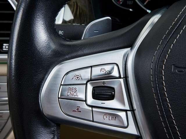 ステアリングにはパドルシフトが採用され、ドライブしながらスムーズなシフトチェンジが可能です。またアクティブクルーズコントロールの操作スイッチ類を装備、快適かつ安全なドライビングを実現してくれます。