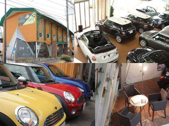 古屋市天白区にあるアブロ名古屋ショールーム。MINI、BMWを専門に取り揃えており、目を引く独特な店舗デザインが目印になります