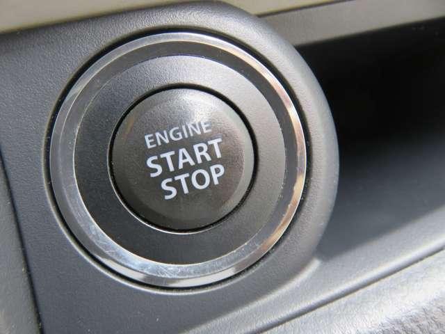 キーレスプッシュスタートシステム!携帯リモコンを身に付けていれば、ブレーキを踏んでスイッチを押すだけでエンジン始動が可能!