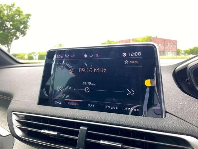 オーディオ画面です。標準でUSB、ラジオ、Bluetoothがご利用頂けます。