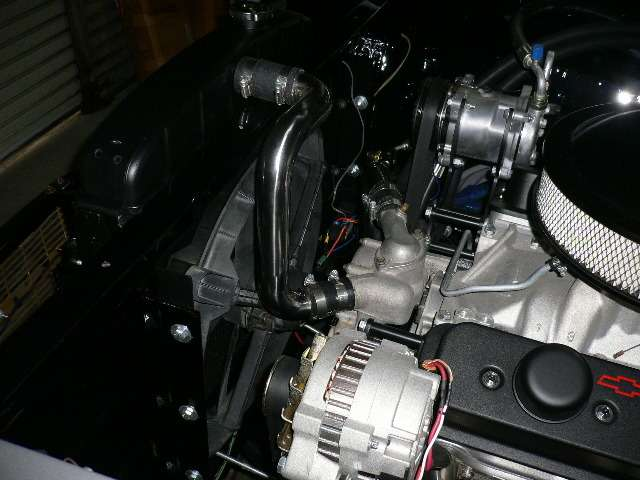 LT-1エンジン ステンレスパイプによるラジエターホース