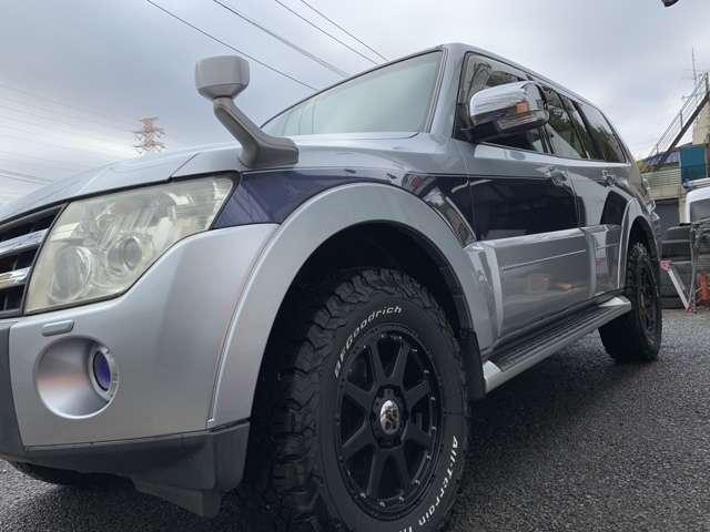 三菱パジェロ3.0 ロング エクシード 4WD新品グッドリッチ 新品18インチAW神奈川県の詳細画像その7